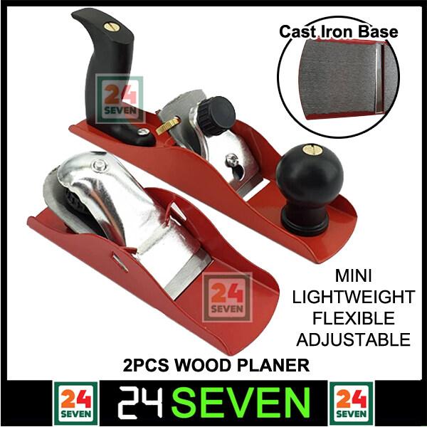 [ READY STOCK ] 2pcs Wood Planer Block Planer Set Carpenter Woodworking Planer Ketam Kayu