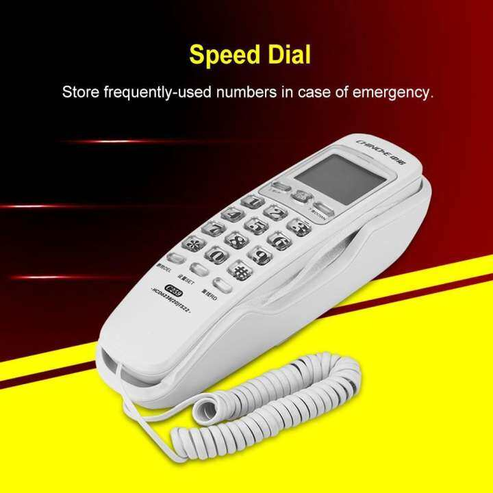 Hot New One Button Wall Telephone Non Interference Call Display Lazada