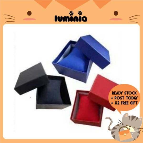 READY STOCK LUMINIA MALAYSIA - Watch Box Paper Kotak Tray Gift Bangle Jewelry Wrist Watch Box Jam Tangan Wanita Ring Earrings Malaysia