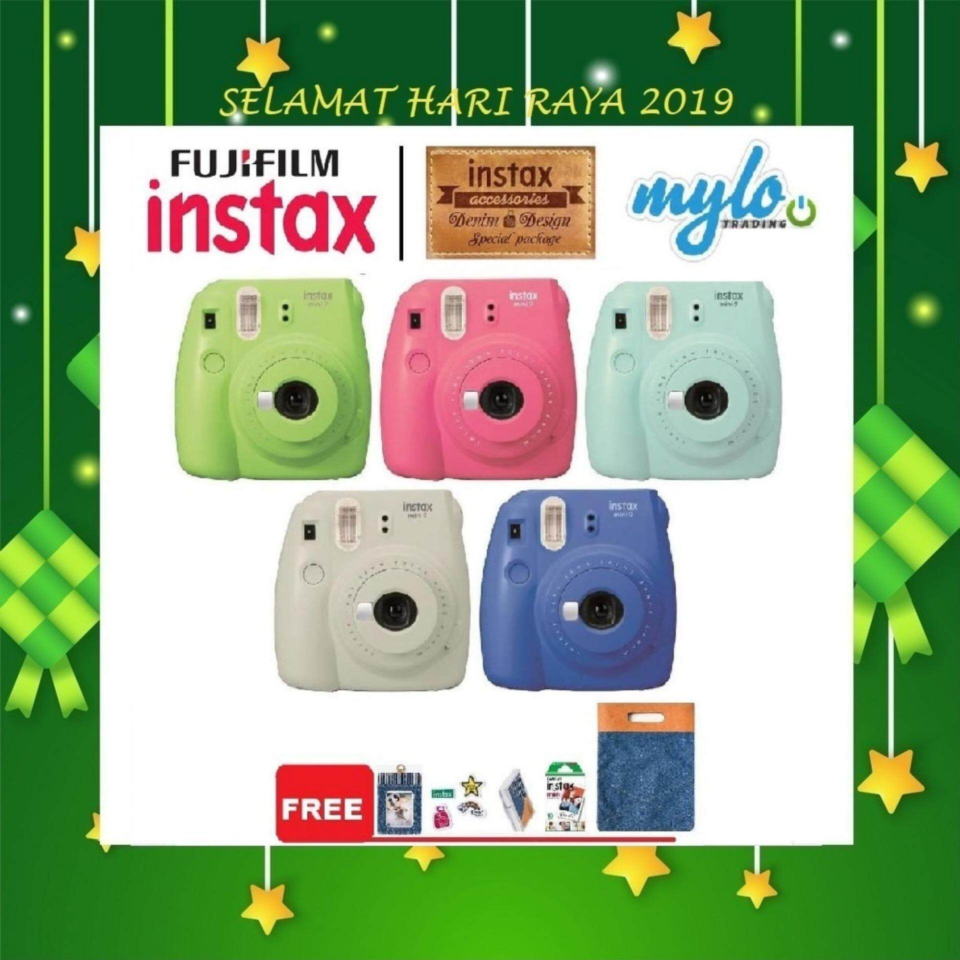 Fujifilm Instax Mini 9 Denim Package (buy 1 Free 5 Bundle) By Mylo Trading Online Store.
