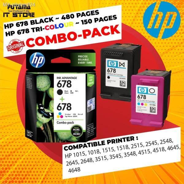 HP 678 BLACK - TRI-COLOR - TWIN-PACK - COMBO-PACK HP678 ORIGINAL INK CARTRIDGE Malaysia