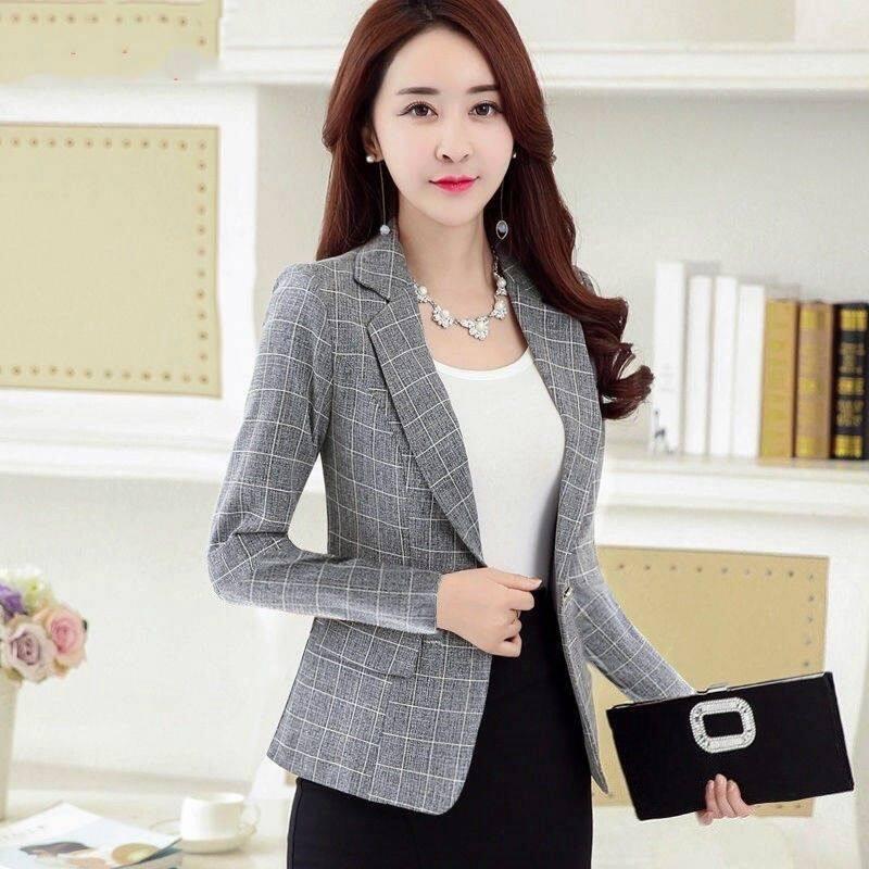 Bộ Đồ Vest Kẻ Sọc Nữ Dài Tay Mỏng Đơn Giản Thoải Mái Thời Trang Hàn Quốc 2020