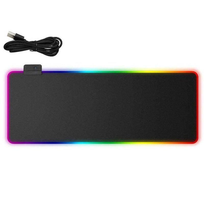Giá RGB LED Nhiều Màu Chiếu Sáng Miếng Lót Chuột Chơi Game Cho Máy Tính Laptop 350*250 Mm