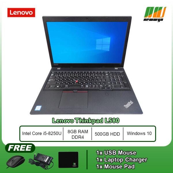 Lenovo Thinkpad L580 / Core i5-8250U / 8GB RAM DDR4 / 500GB HDD / WIN 10 PRO (Refurbished Laptop) Malaysia