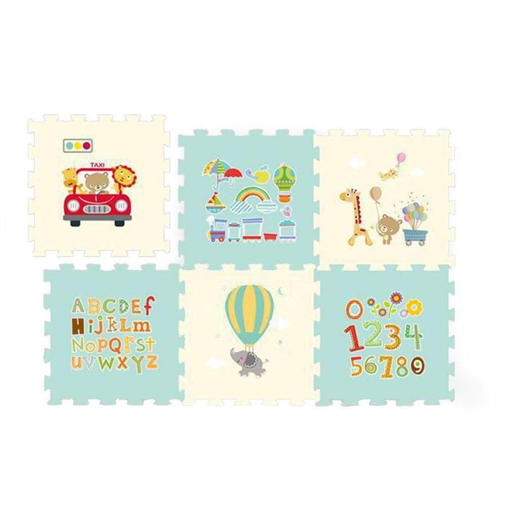 GoodGreat 60*60CM Thicken Living Room bedroom Children Kids Soft Carpet Magic Patchwork Jigsaw Splice Heads Climbing Baby Mat 6 pcs