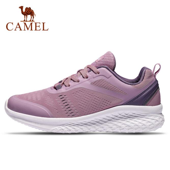 Giày thể thao chạy bộ phối lưới dành cho nữ có đế cải tiến chống sốc chất liệu nhẹ thoáng khí Camel giá rẻ