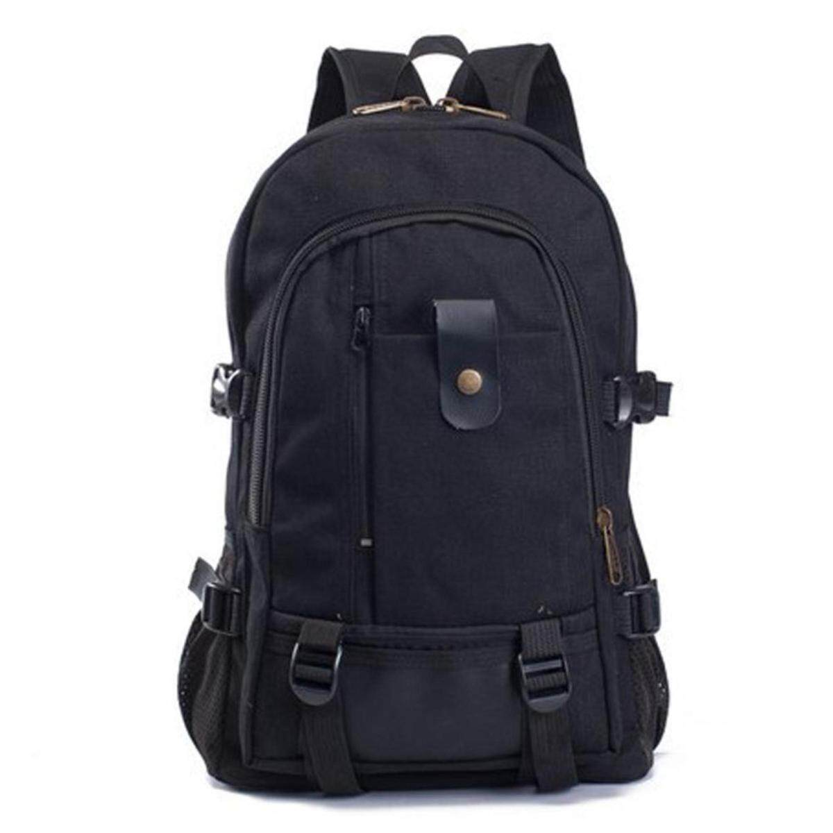 d90ba5a59bc6 Men s Backpacks Outdoor Travel Bags Vintage Style Design School Casual  Canvas Backpack( Black) (