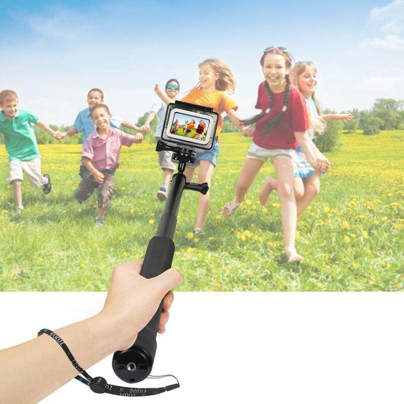 PULUZ PU416 Waterproof Aluminum Alloy Extendable Handheld Selfie Stick for DJI Osmo Action Monopod Release Long Screw Lanyard