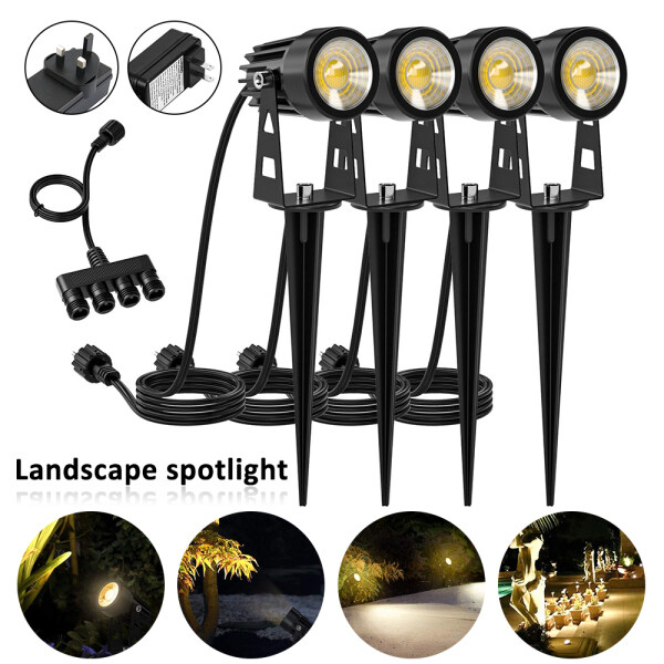 【 Hot Sale】LED Landscape Light Outdoor Garden Spot Lawn Path Spotlight 5W 3000K 120V