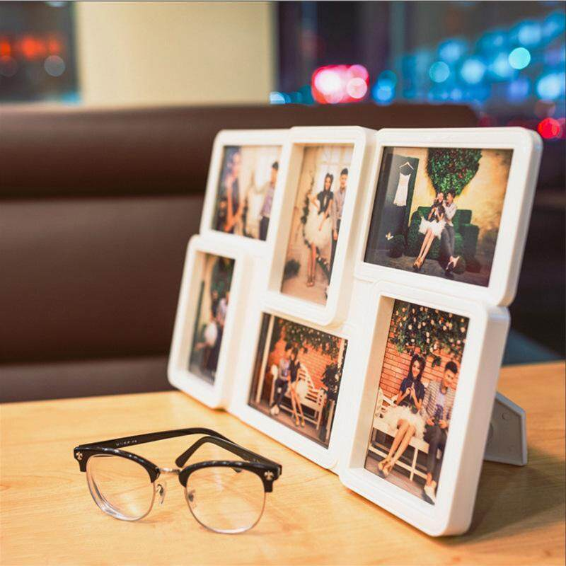 LSDIDI 5 inches 6 pcs Combination Photoes of Set Design Photo Frames, Photography Creative 3-inch Frame European Style Table Wallet