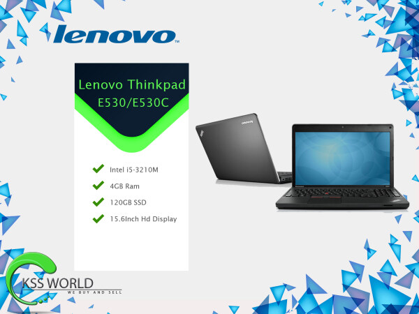 Lenovo Thinkpad E530/E530C Intel i5-3210M 4Gb Ram 120GB SSD 15.6Inch Hd Display Integrated HD Graphic Malaysia