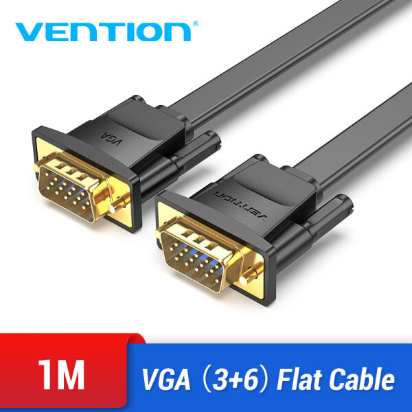 Bảng giá Vention VGA Male to Male Flat Cable 1080P Braided Shielding Cord for HDTV PC Laptop Box Projector Monitor VGA Cable Phong Vũ