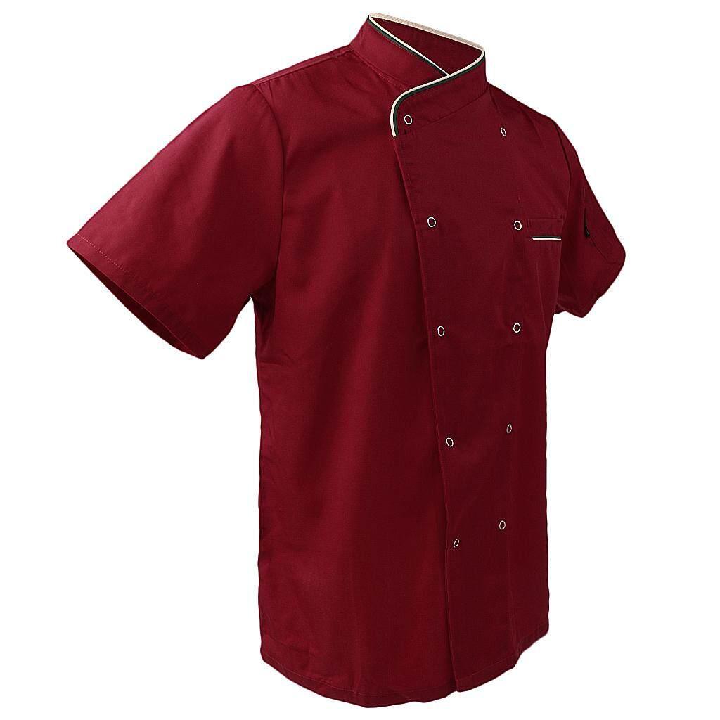 Fenteer Unisex Short Sleeve Chef Jacket Coat Restaurant Cook Uniform