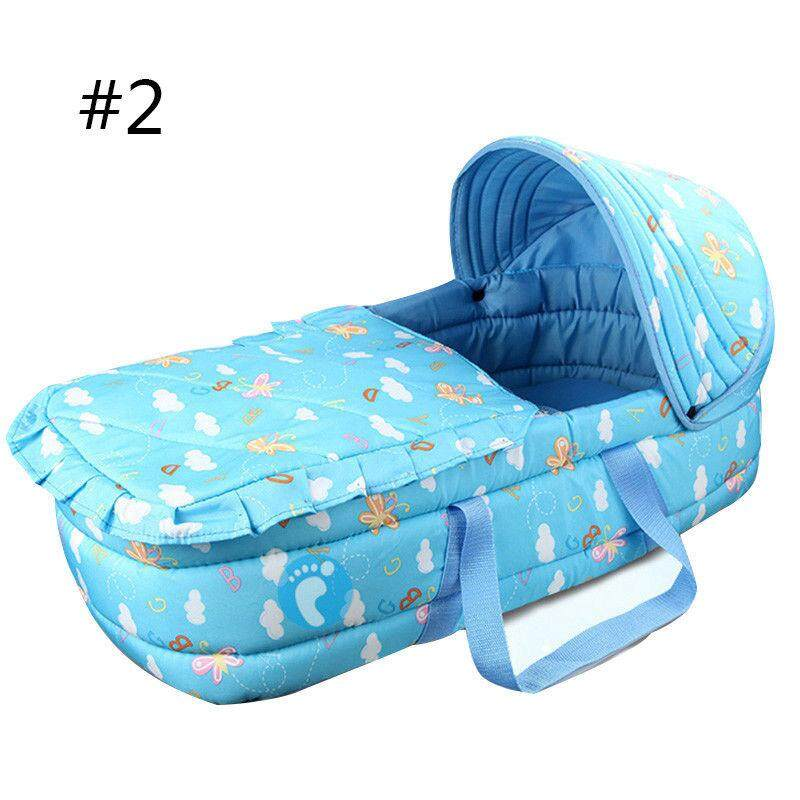 Newborn Baby Infant Moses Basket Portable Cradle Travel Bed Bassinet Comfortable By Moonbeam.