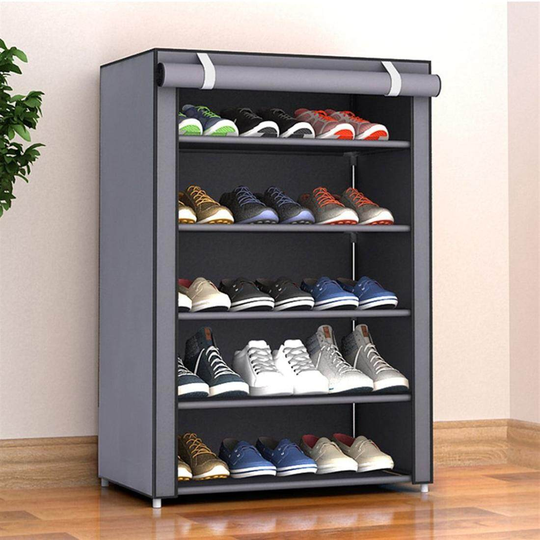 Dust-proof 30*60*90cm  6layers5lattice Non-Woven Fabric Shoes Rack Shoes Organizer Bedroom Home Decoration Shoe Storage with Cover