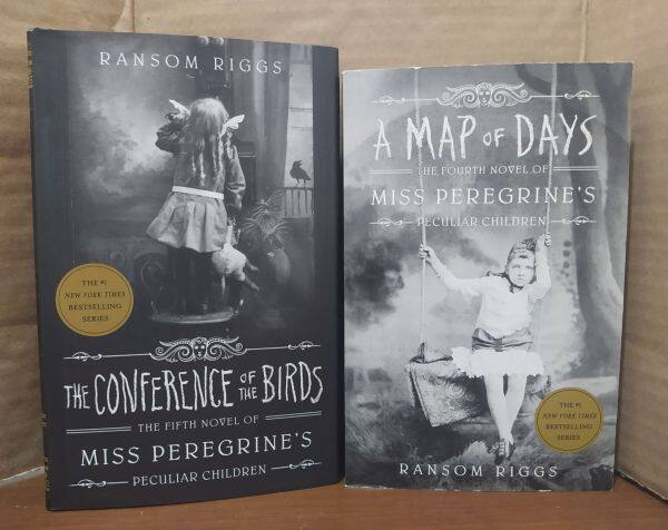 Miss Peregrines Home for Peculiar Children by Ransom Riggs BOOK 4 & 5 - A Map of Days (Book 4 in Paperback)  &  The Conference of the Birds (Book 5 Hardcover) - Original  Guaranteed Malaysia