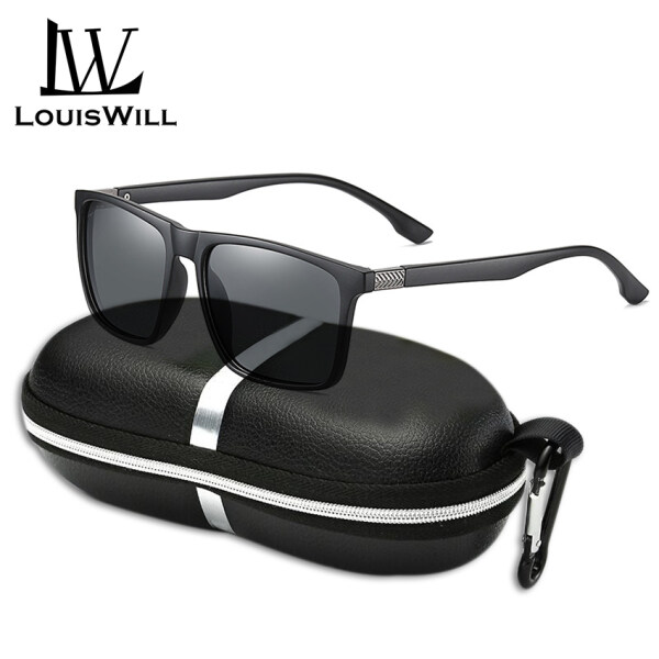 Giá bán LouisWill Men Sunglasses Polarized Classical Fashion Glasses UV400 TAC Lens Sunglasses Outdoor Activities Sports Sunglasses Driving Fishing Racing Eyewear Non-slip TR Temples Sun Glasses