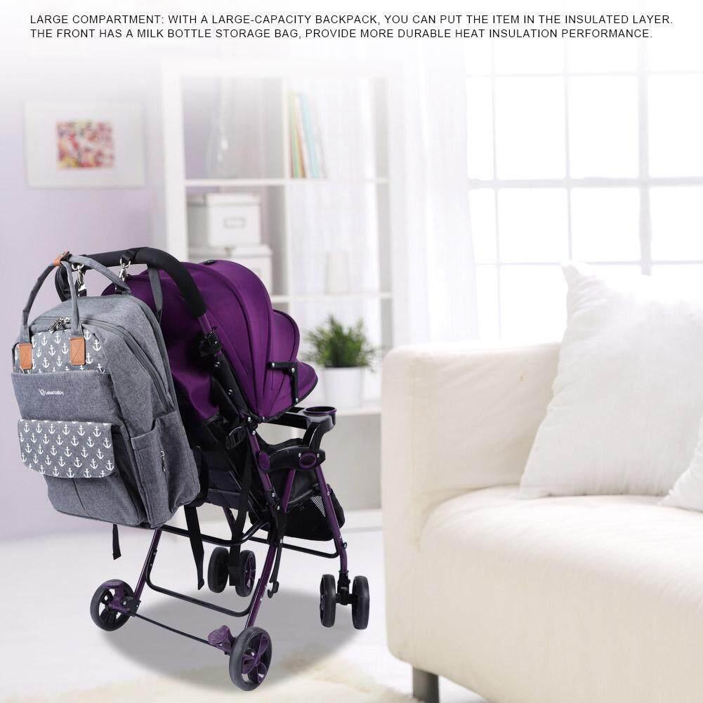 2-Way แม่เด็กมารดากระเป๋าสะพายใส่ผ้าอ้อมฉนวนกันความร้อนกระเป๋ากันน้ำ TRAVEL