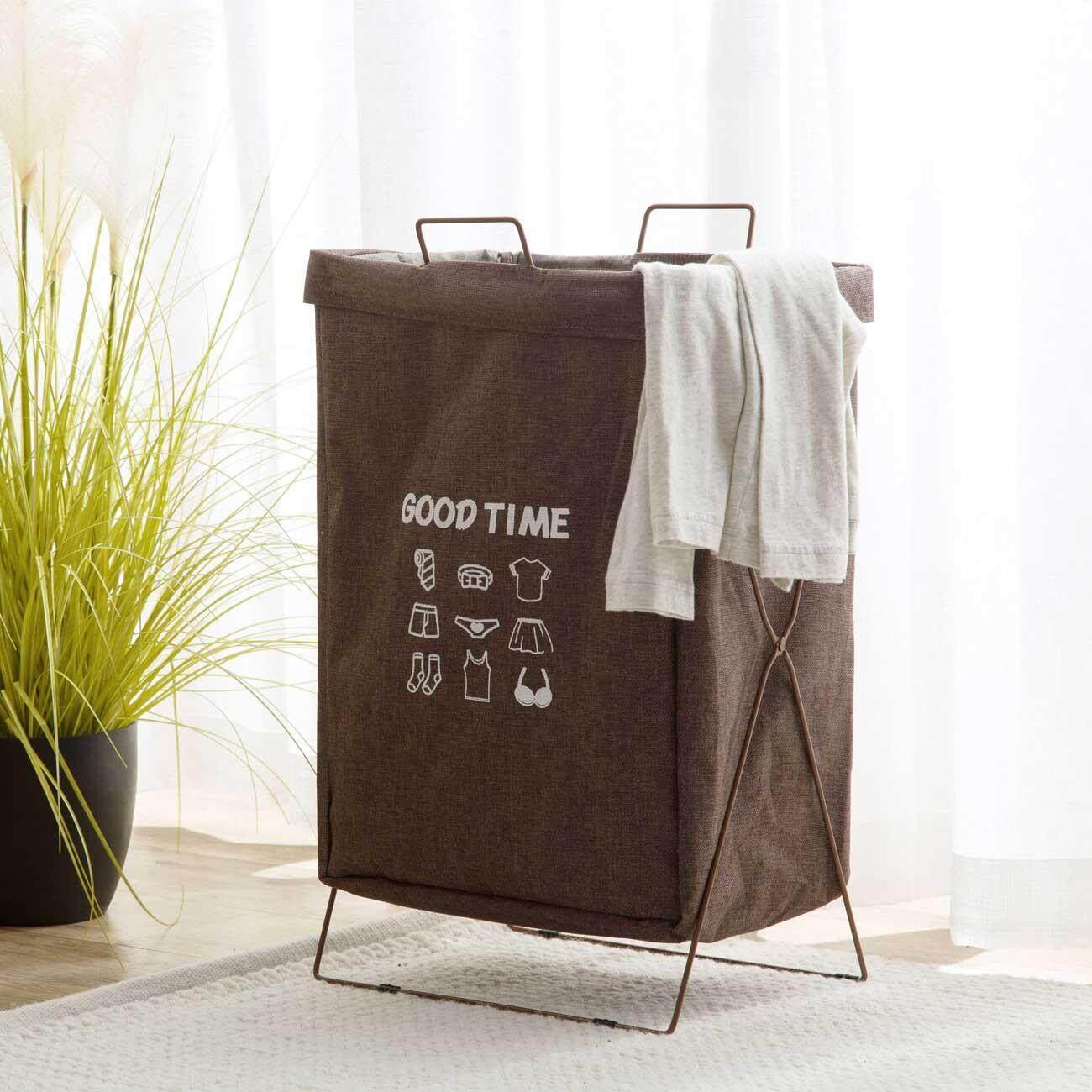 58320c47c9b Homenhome 1 pcs Laundry Basket Foldable Laundry Hamper with Iron Stand