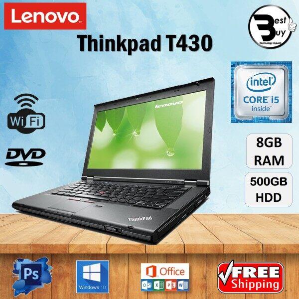 LENOVO THINKPAD T430 CORE i5 (3rd GEN ) 14 HD / 8 GB RAM / 500 GB HDD / 14 INCH SCREEN / WINDOWS 10 PRO / LENOVO THINKPAD T430 / REFURBISHED Malaysia