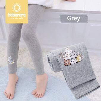 BoBoRoRo เลกกิ้งสำหรับเด็กผู้หญิงสีลูกอมกางเกงรัดรูปเลกกิ้งเนื้อบางนุ่มกางเกงเด็กวัยรุ่น
