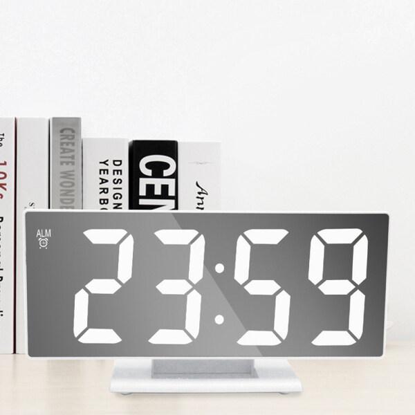 Đồng Hồ Báo Thức LED Đồng Hồ Kỹ Thuật Số Đa Chức Năng Gương Đèn Bàn LCD Hiển Thị Thời Gian Ngủ Đồng Hồ Kỹ Thuật Số Cáp USB Văn Phòng bán chạy