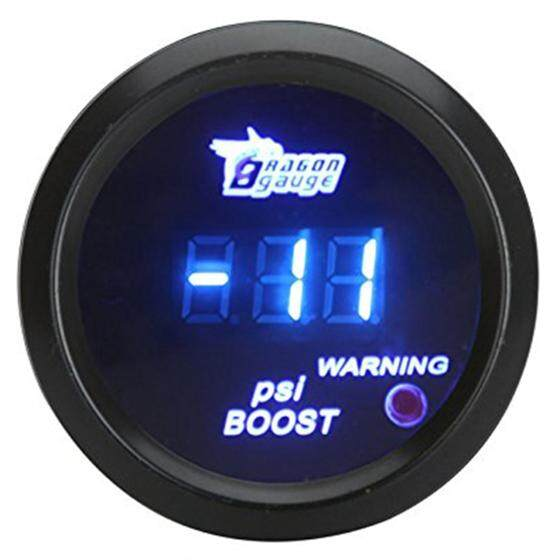 52mm 2in Lcd Digital Auto Car -14~29 Psi Turbo Boost Gauge Meter With Sensor Warning Light - Black By Dragonlee.