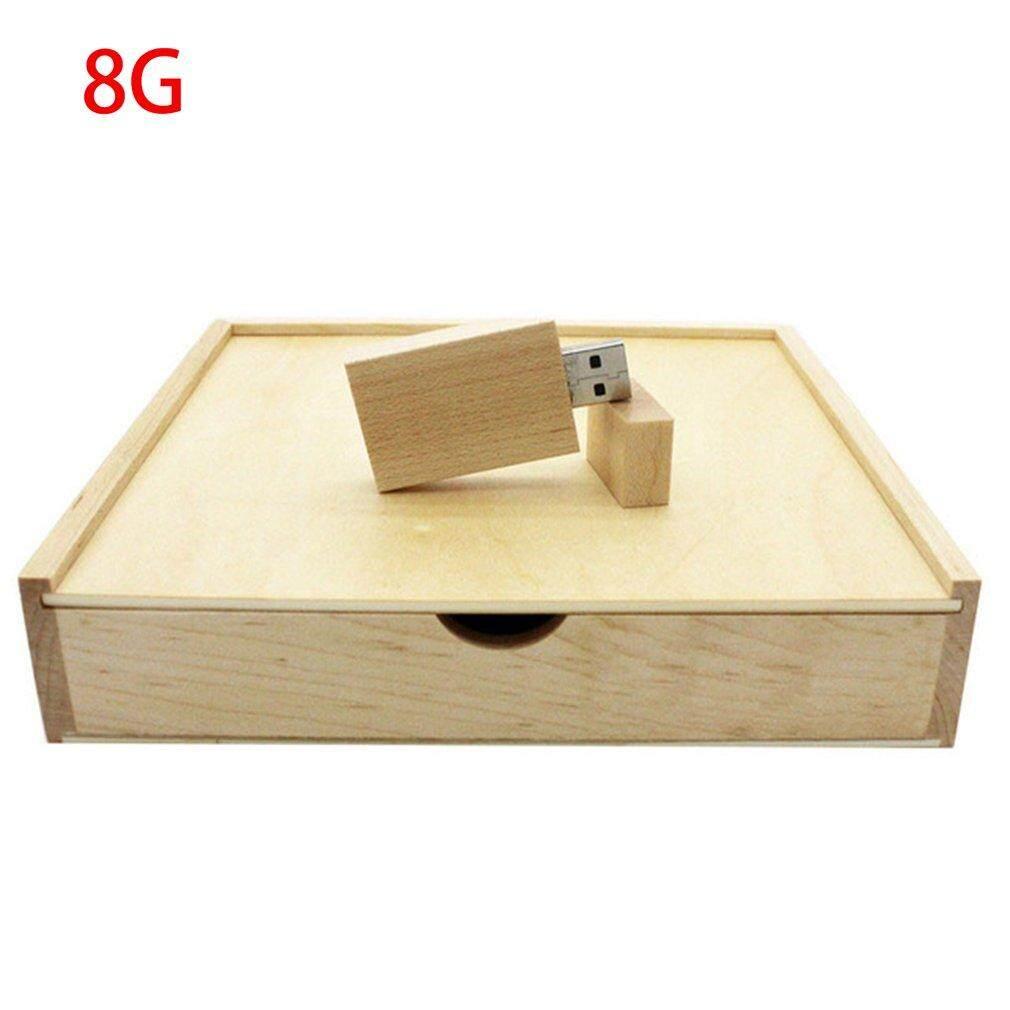UINN Maple Wood Photo Album Box USB Flash Drive Photography Wedding Storage Device