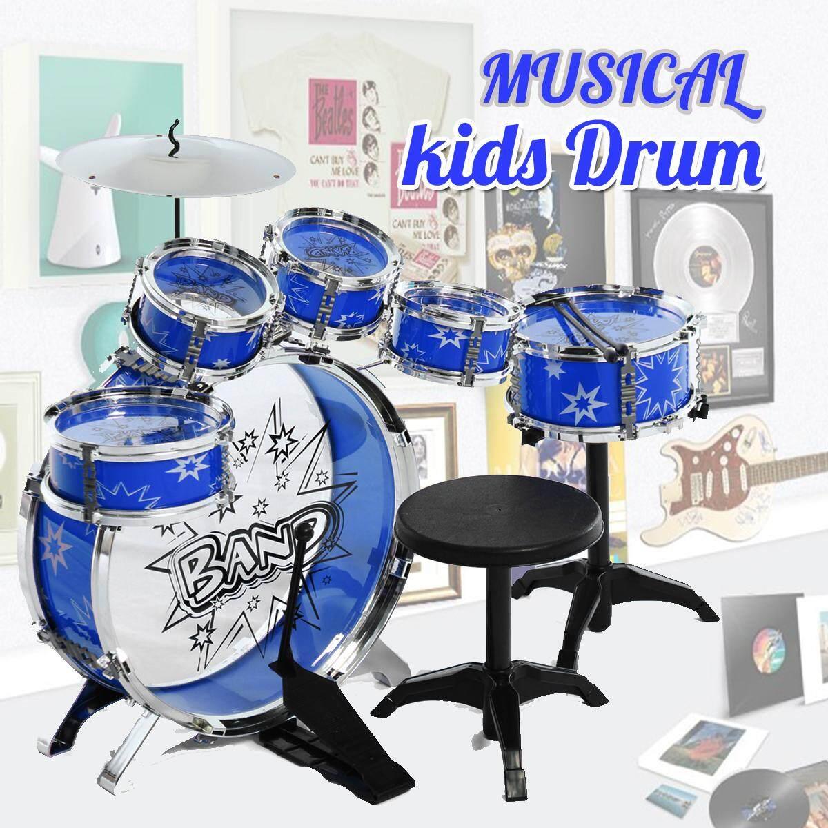 Trẻ Em Trẻ Em Bộ Trống Cơ Sở Bộ Trống Bộ Gõ Nhạc Cụ Với Dùi Trống