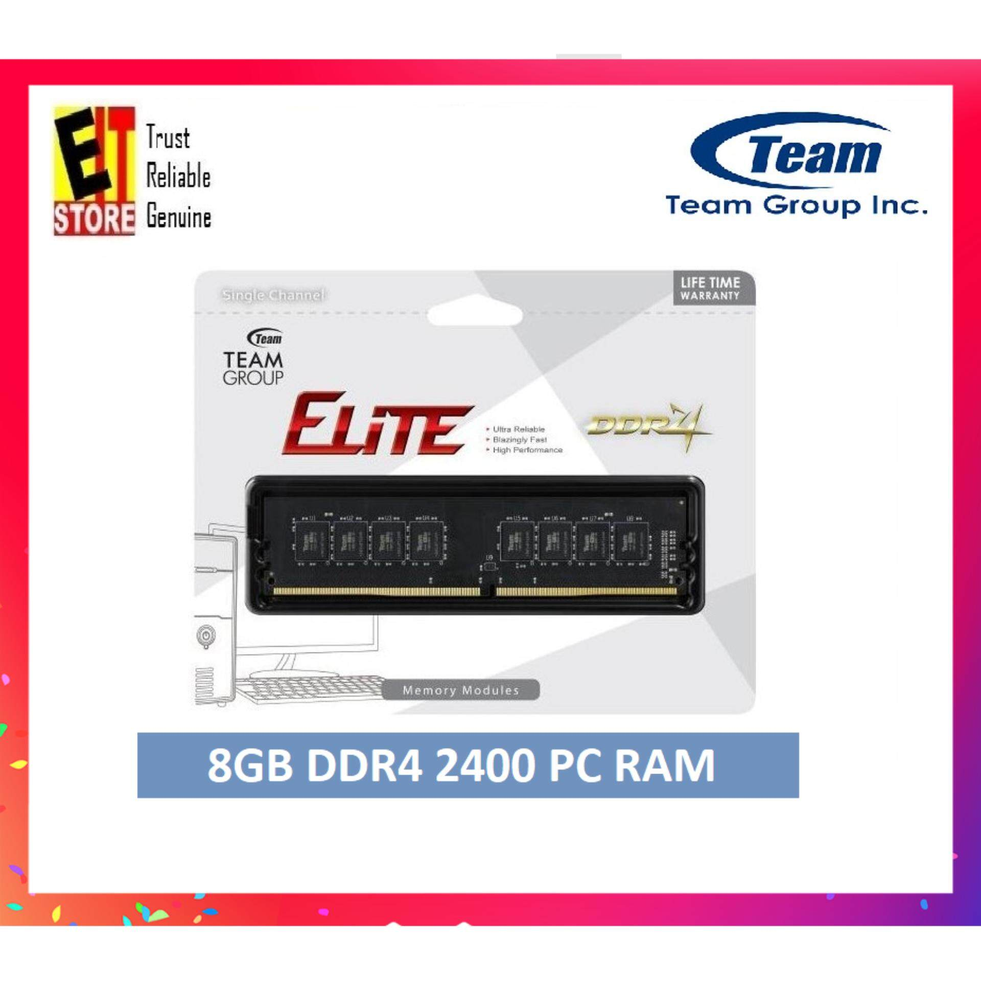 TEAM ELITE 8GB DDR4 2400 1 2V PC RAM (TED48G2400C1602)