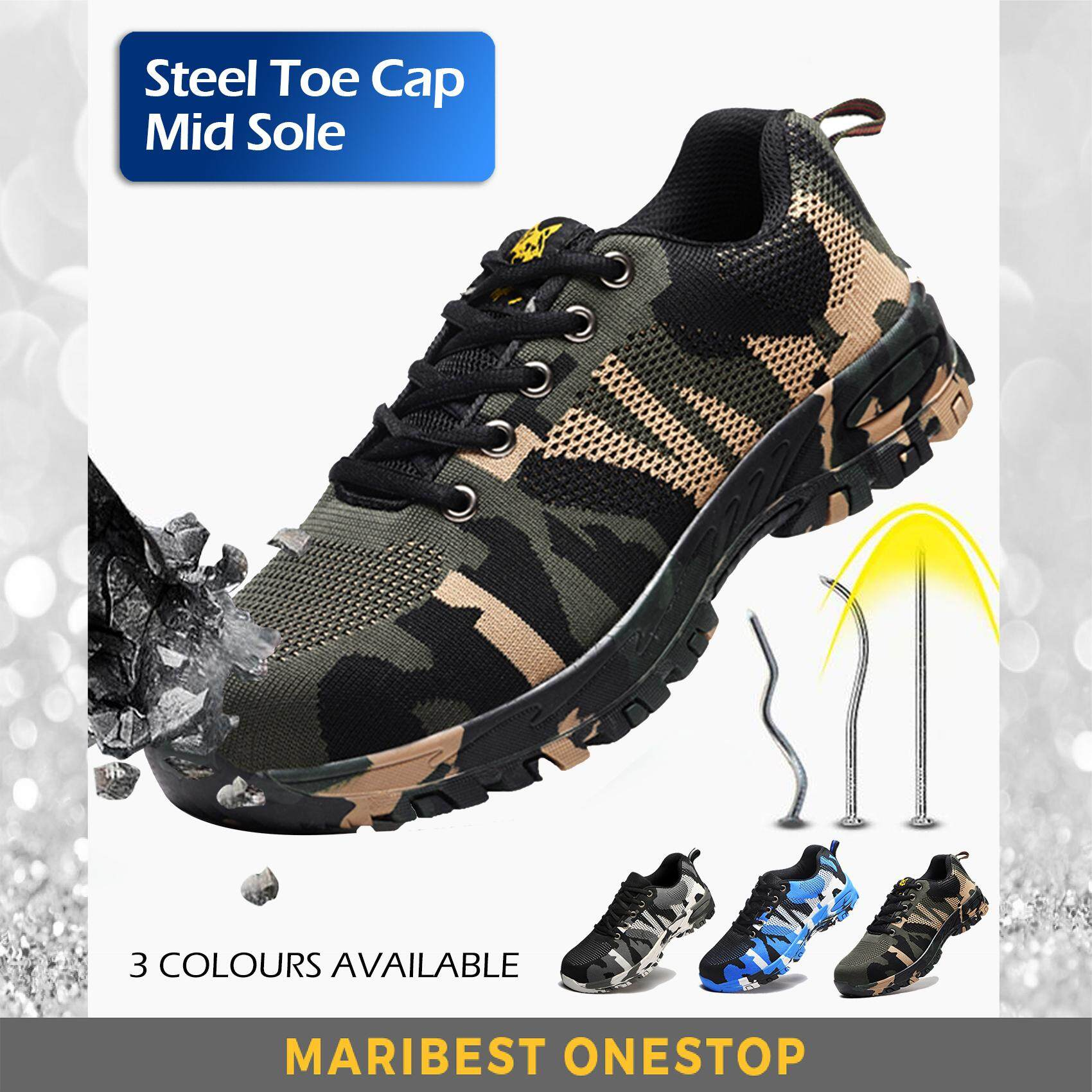 c29acfb301e Steel Toe Cap Midsole Low Cut Safety Shoe Safety Boot Military Camouflage  Boots Hiking Shoe