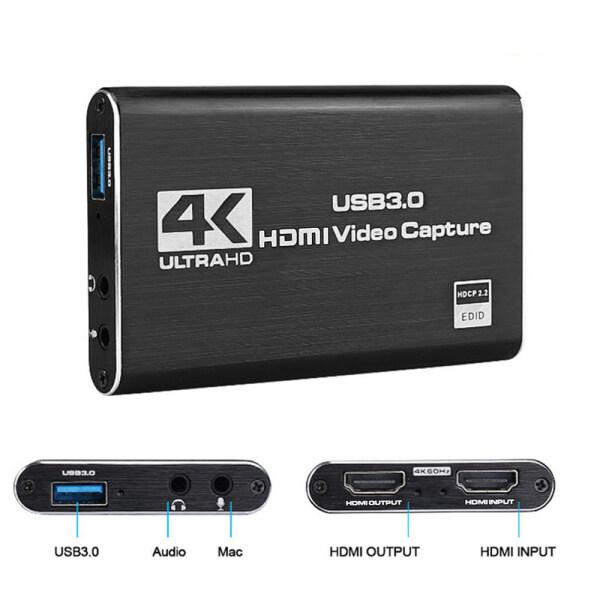 Bảng giá Thẻ Quay Video 4K USB 3.0, Máy Ghi Hình HD 1080P 60fps Tương Thích HDMI Thẻ Trò Chơi Cho OBS Capture Sống Phong Vũ