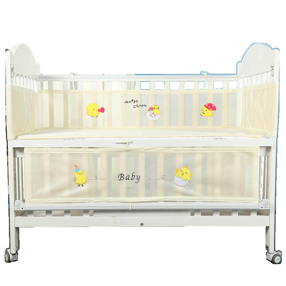 Pagar Untuk Tempat Tidur Bayi Bayi Keselamatan Anti Collison Bernapas Kartun Percetakan Dimensi 2pcs Umum