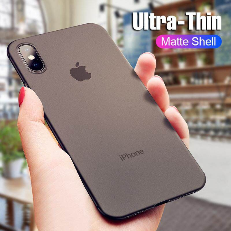 0.4MM Ultra Thin Matte Case For iphone X XS Max XR Hard PC Phone Cover
