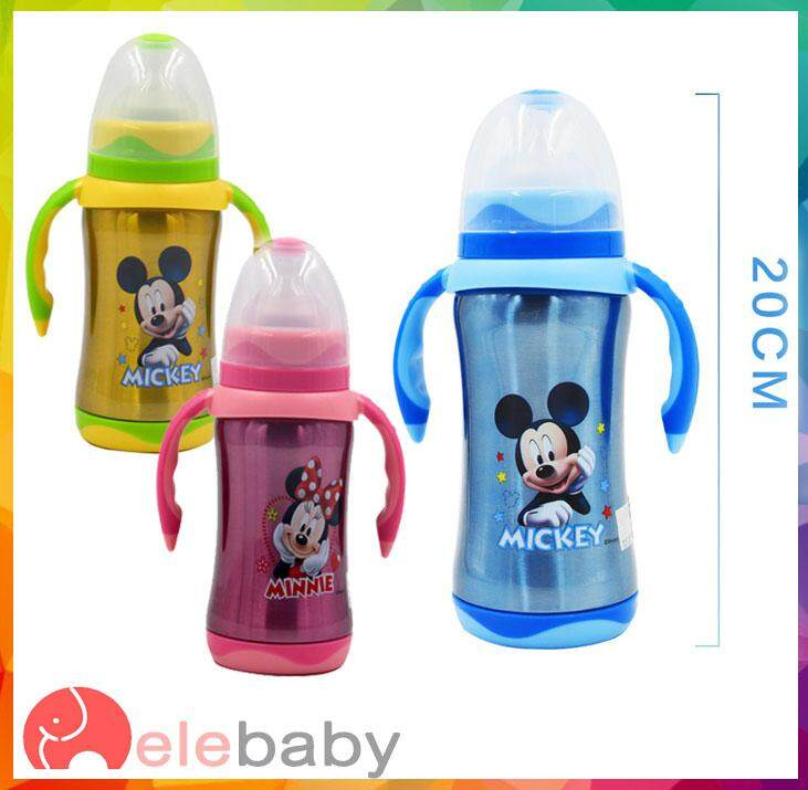Thermal Cartoon Stainless Steel 304 Straw Water Bottle Milk Bottle By Elebaby.