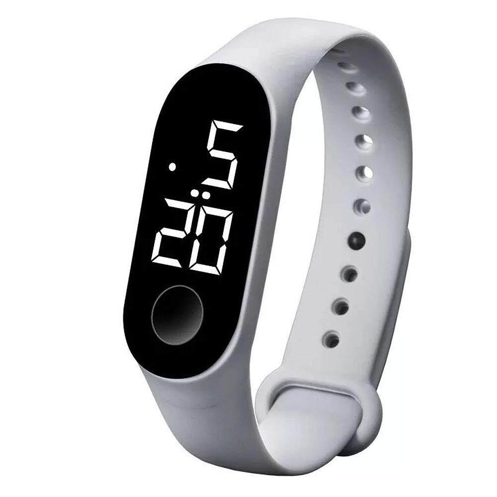 NiceToEmpty [Original]Fashion Unisex LED Touchscreen Sports Electronic Bracelet Real Swimming Level Waterproof Wristband M Style Multifunction Digital Watch Malaysia