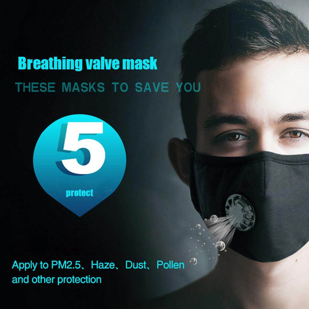 【Child & Adult Mask Protection】Rayeshop 1pcs Anti Dust Mask Washable PM2.5 Masks with Adjustable Straps for Women Man