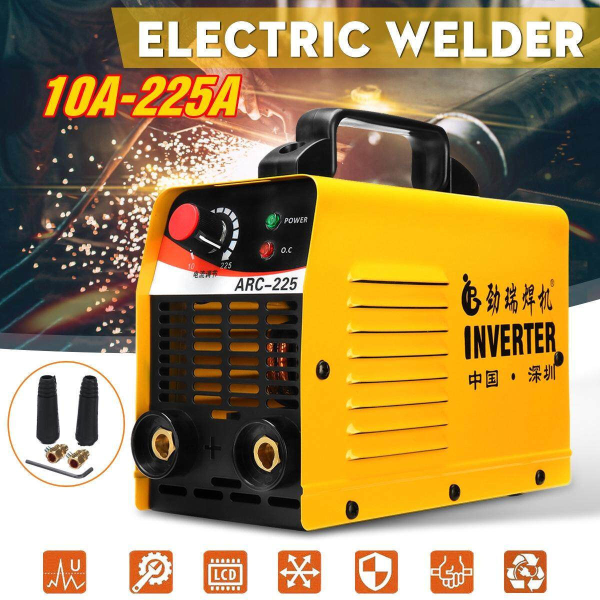 【Free Shipping + Flash Deal】Portable ARC-225 10-225A 220V LCD Electric Welder ACR ZX7 IGBT MMA Welding Machine