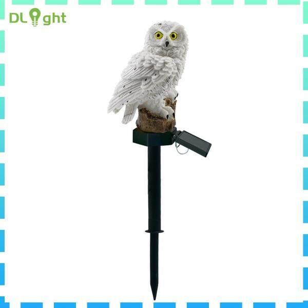 Năng Lượng Mặt Trời LED Owl Lawn Light Ngoài Trời Không Thấm Nước Sân Vườn Đèn Cảnh