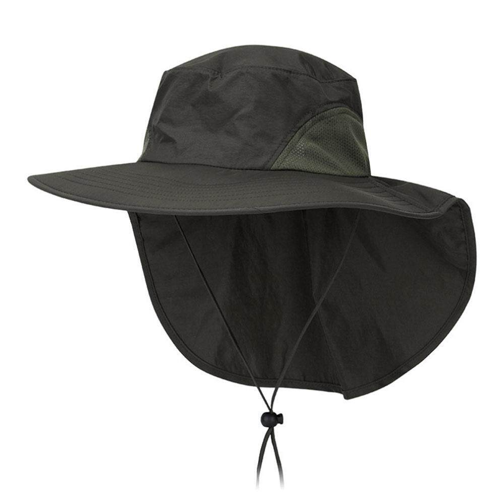 cf9a1643 Product details of Rodeal Fishing Hat, Sun Protection Cap 360°UV Protection  UPF 50 Wide Brim Folding Sun Hat With Neck Flap Or Men Women Hiking Fishing  ...