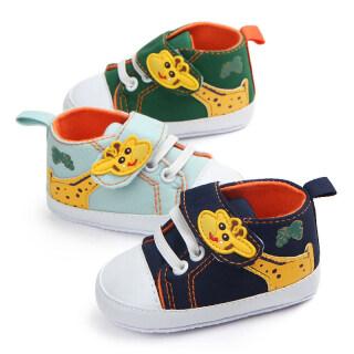 Phim Hoạt Hình Hươu Cao Cổ Giày Em Bé Canvas Mùa Xuân Mùa Thu Sơ Sinh Girl Boy Giày Sneakers Mềm Duy Nhất Không Trượt Trẻ Sơ Sinh Toddler First Walkers thumbnail