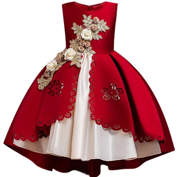 Giá bán Đầm Công Chúa Lưới Trang Trọng Cho Bé Gái, Đầm Dự Tiệc