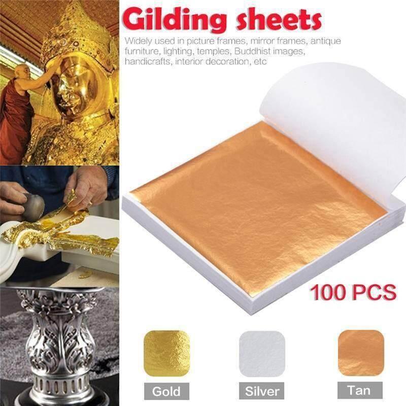 Gold Silver Copper Foil Leaf Paper Food Cake Decor Edible Gilding DIY Craft