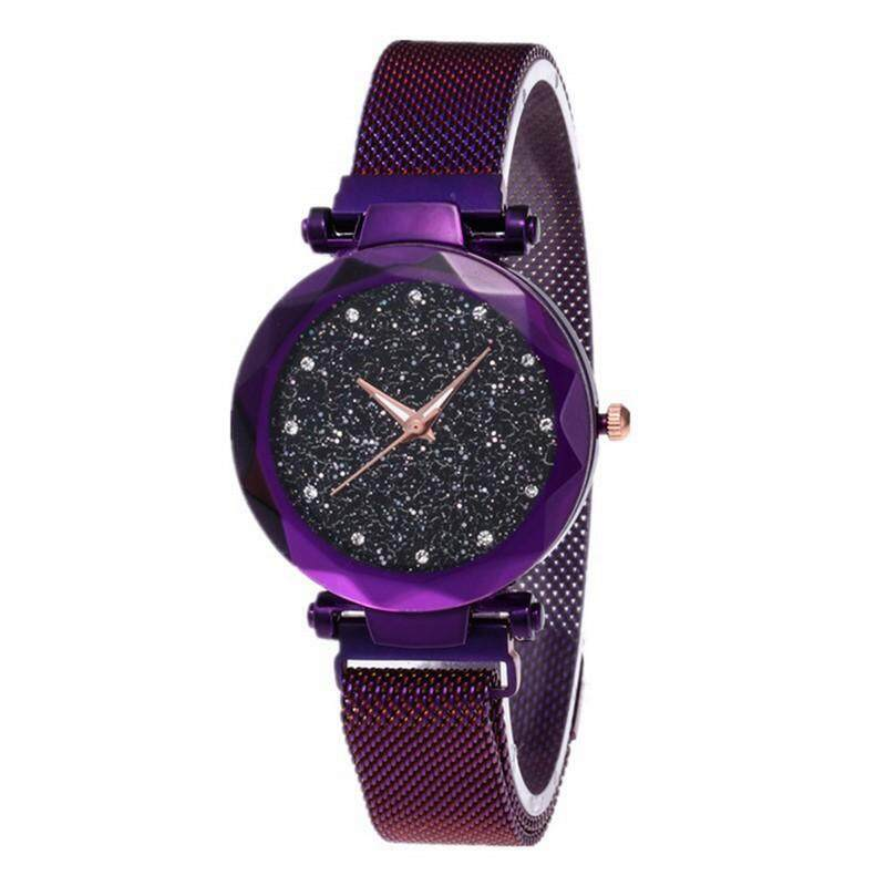 1Pcs Magnetic Starry Sky Watch For Fashion Women Quartz Wrist Watches Stainless Steel Mesh Band Malaysia