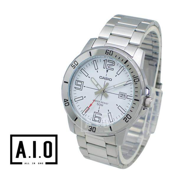 Casio Mens Diver Look Silver Stainless Steel Band Watch MTPVD01D-7B MTP-VD01D-7B Malaysia