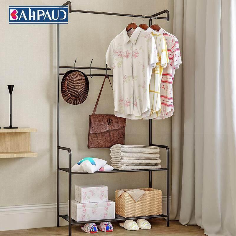 Bahpaud Floor-standing Coat Rack Frame Hanging Simple Clothes Rack Economical Hanger Rack