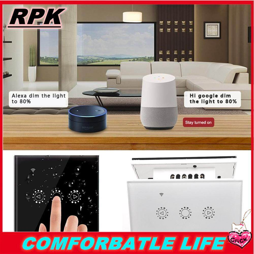 RPK [COD] [FREE SHIPPING] Best-selle 220v Smart Wifi Touch Control Switch Stepless Dimmer Compatible with Amazon Alexa Google Assistant Ewelink