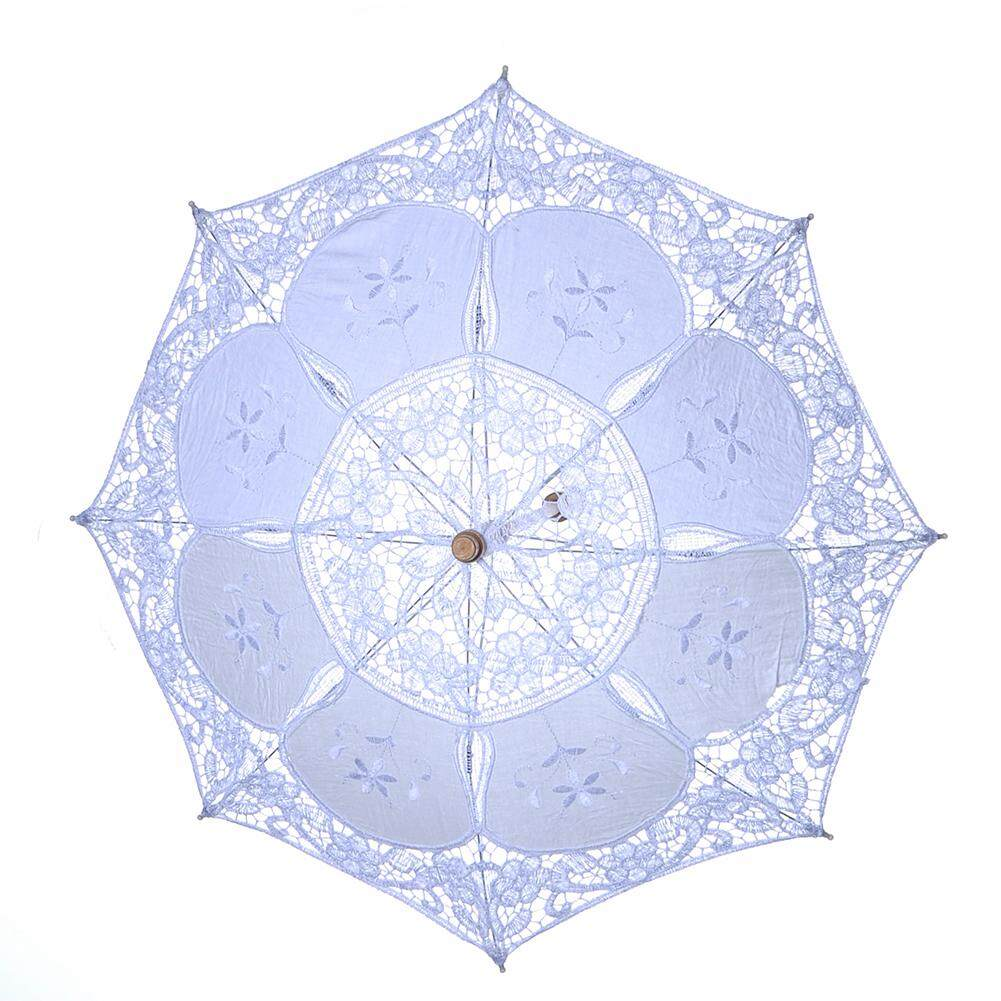 Wooden Handle Photography Bridal Wedding Decor Dance Party Props Gift Fashion Home Lace Umbrella