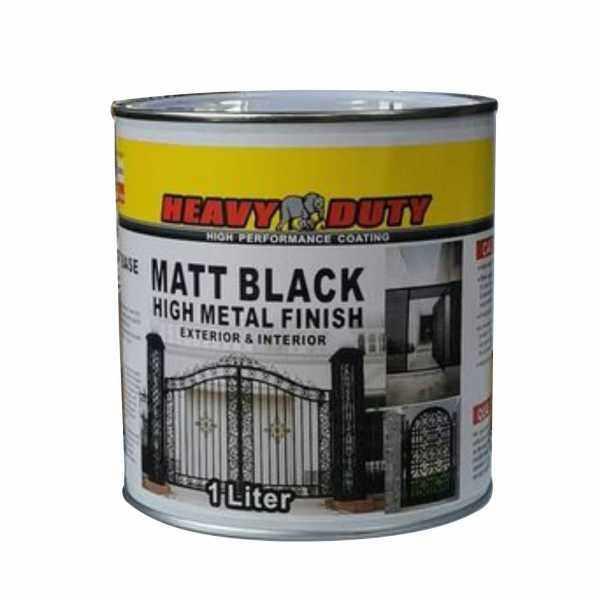 ( 1L ) MATT BLACK ( Heavy duty Brand ) Anti Rust & Corrosion Protection For Wood & Metal Fixtures. paint / cat kayu besi