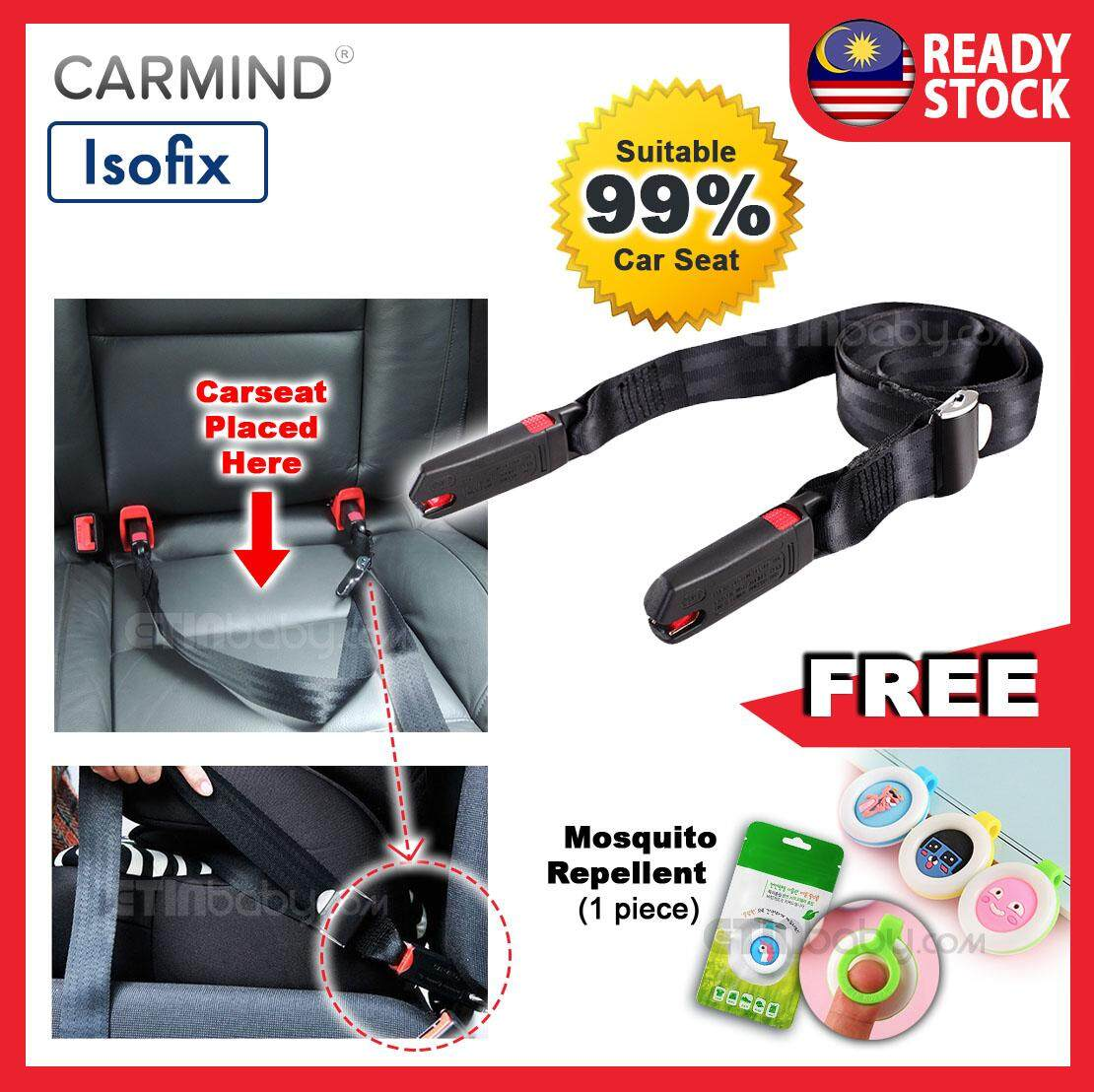 Carmind Car Seat Belt Isofix General Adjustable Connector Child Car Seat for Fixed Carseat image on snachetto.com